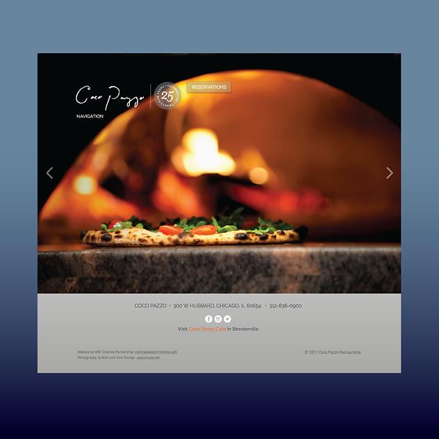 Coco Pazzo Restaurant website