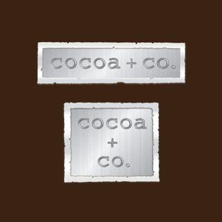 Cocoa + Co. chocolate shop logo