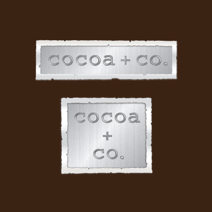 Cocoa + Co. chocolate shop logo