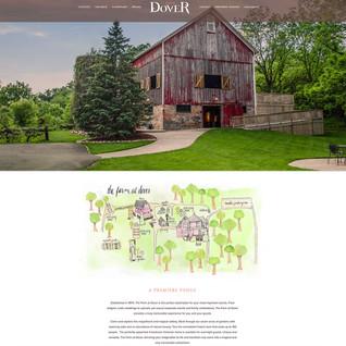 Fun hand drawn map for The Farm at Dover Venue