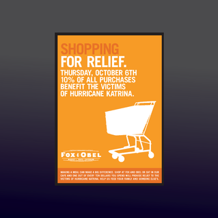 Event for Hurrican Katrina victims postcard