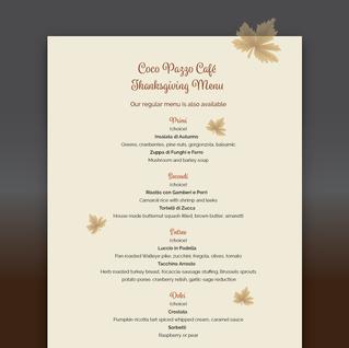 Thanksgiving menu design