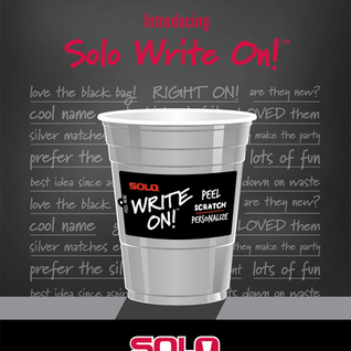 Solo Cup Write On! sales sheet