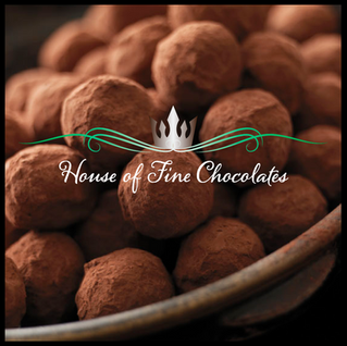 House of Fine Chocolates logo and website