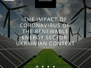 Dmytrо Nechyporenko commented on the impact of coronavirus on renewable energy for Kosatka.Media