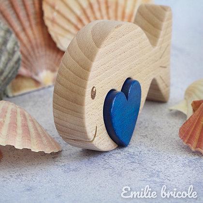 Poisson au cœur bleu