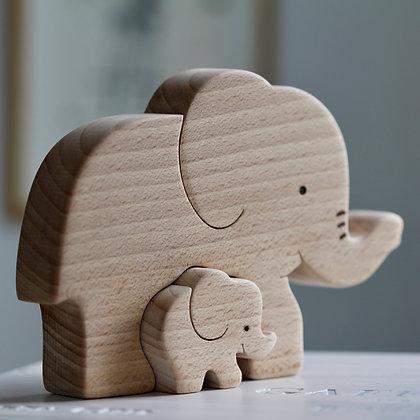 Puzzle Eléphants