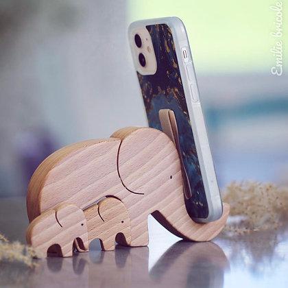 Puzzle Éléphant Support téléphone
