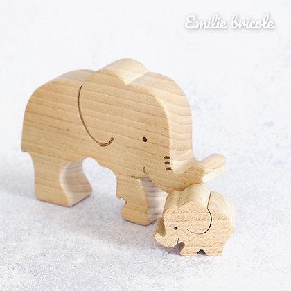 Duo d'éléphants