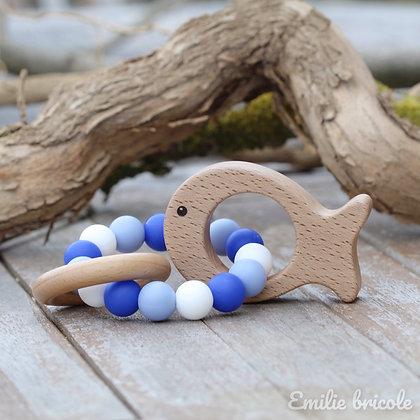 Hochet poisson bleu