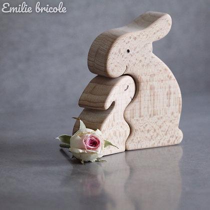 Duo de lapins câlins