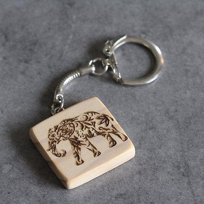 Porté clés éléphant personnalisable