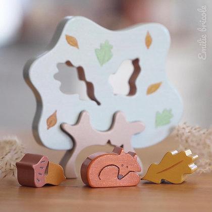 Puzzle arbre au renard SPRING