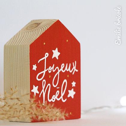 Maisonnette Joyeux Noël à personnaliser