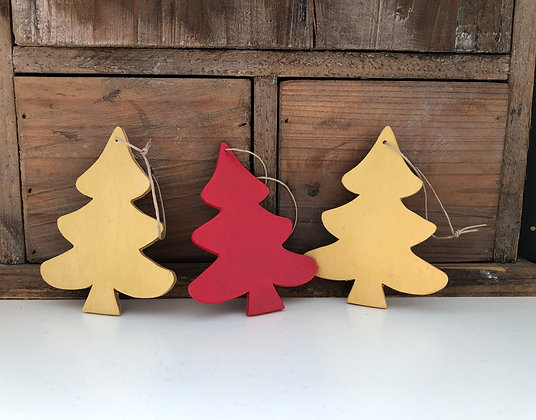 Décorations de Noël - lot de 3 sapins