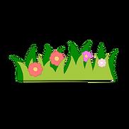 绿色剪纸风格草地卡通素材下载.png