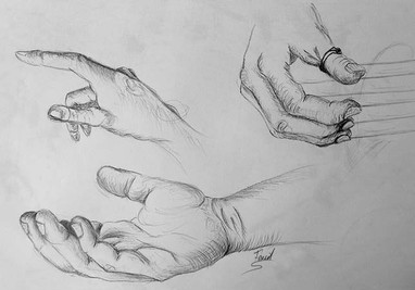 Etude au stylo bille  Mains