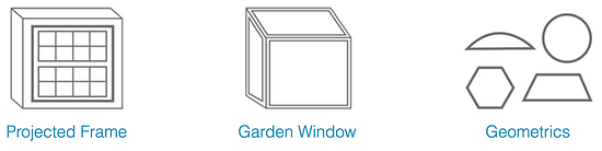 Projected frame, garden and geometrics windows