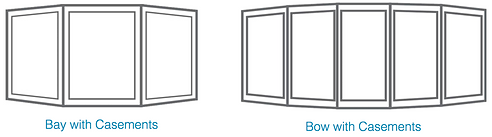 Bay and Bow Casement windows