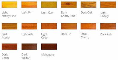 Wood Grain Choices