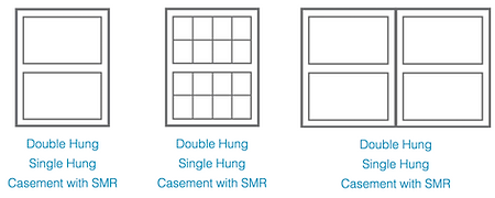 Double, Single and Casement windows
