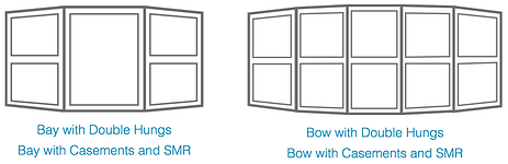 Bay, Bow, Double Hung casement and SMR Windows