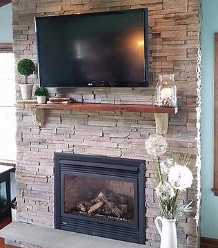 Stone Fireplace, Trim