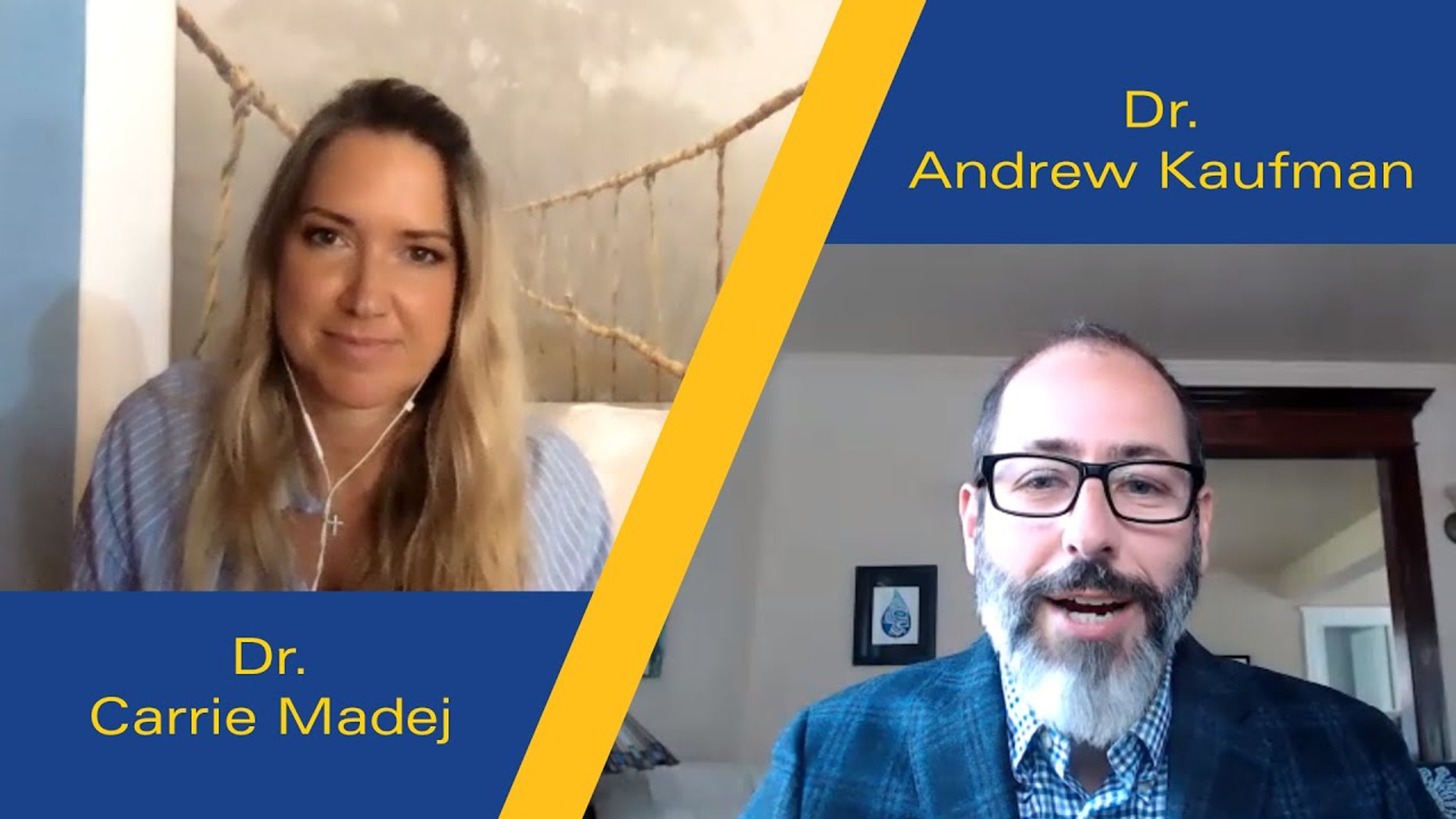 Dr. Carrie Madej with Dr. Andrew Kaufman on vx , hydrogel, and secret government programs
