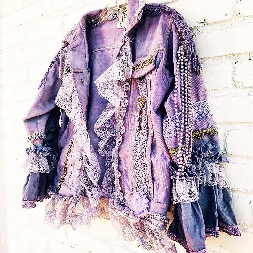 custom upcycled dvintage denim jacket