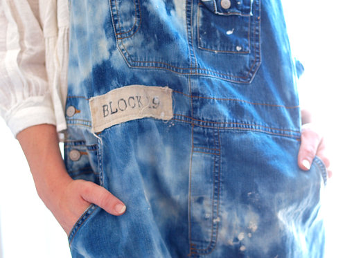 block 19 upcycled shabby overalls
