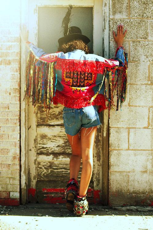 Custom Banjara Denim Jeans Jacket