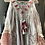 Thumbnail: European boho cold shoulder ruffled cotton tunic