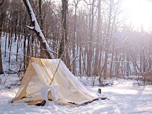 Boho lace meditation festival tent / bed canopy