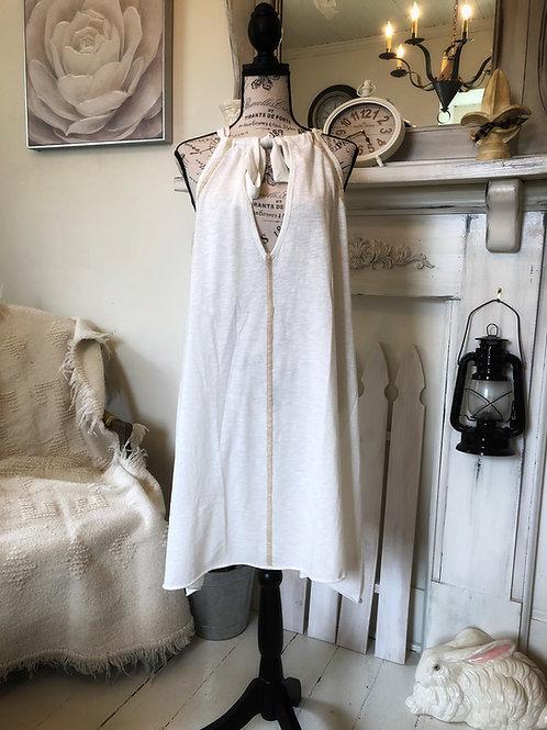 Rina bow neck halter dress