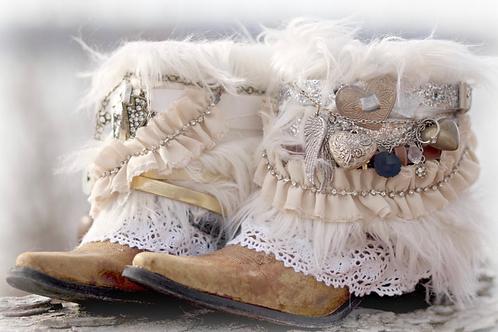 Custom new bridal boots