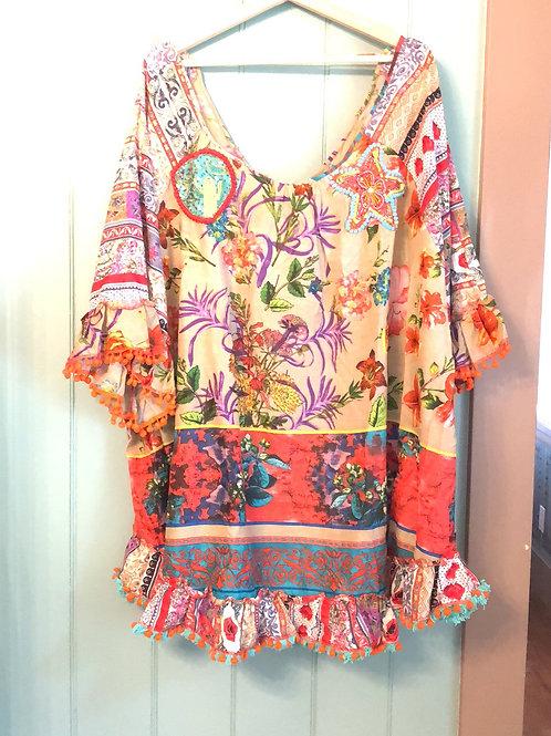Antica Sartoria oversized floral tunic