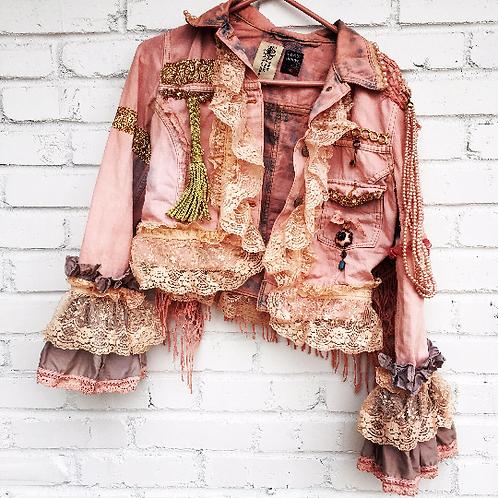 copy of custom upcycled dvintage denim jacket