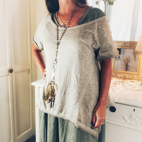 Joanna T Grecian cotton slate top