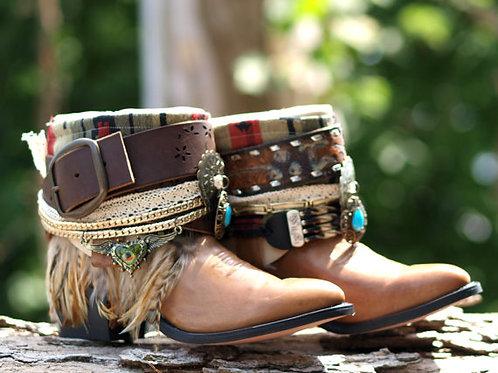 Custom vintageTribal COWBOY BOOTS