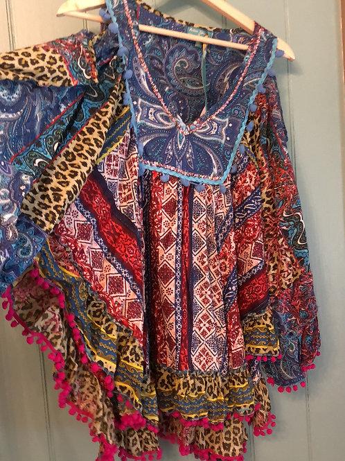 Antica Sartoria cold shoulder cottonhippie tunic