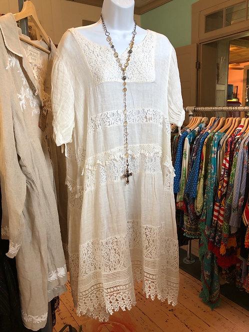 Cream Linen Dress