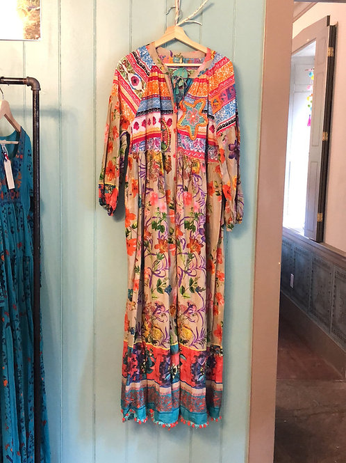 Antica Sartoria long sleeve floral maxi dress