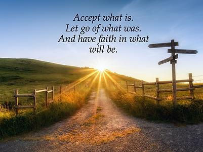 Confiance, vivre le moment présent.