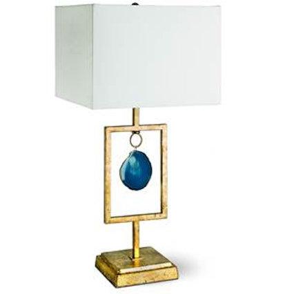 Teal Agate Lamp