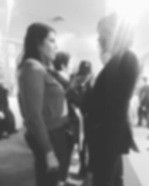 Chatting with _orfeh on the red carpet Sunday night at the #doublestandards benefit concert.jpg
