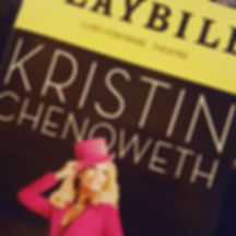 Tonight's last minute _playbill. Seeing the fabulous _kchenoweth for the 2nd time in a month. Went t