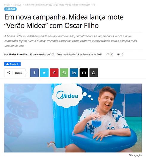 Campanha de Verão Midea - Oscar Filho