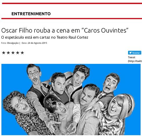 Oscar Filho rouba a cena em Caros Ouvintes