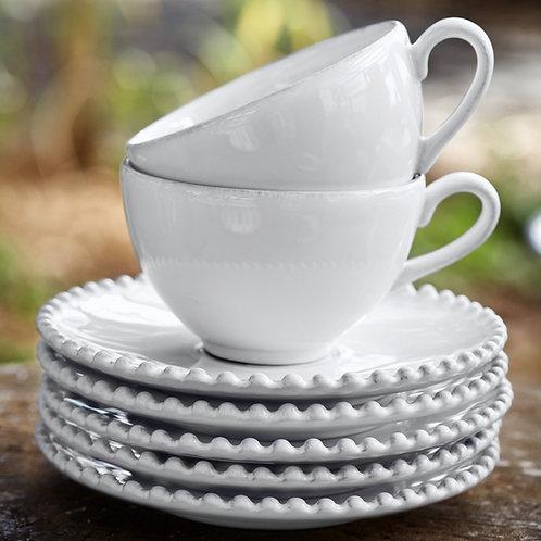 Chávena+Pires Chá Coleção PEARL