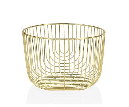 Fruteira Metal Dourado 21